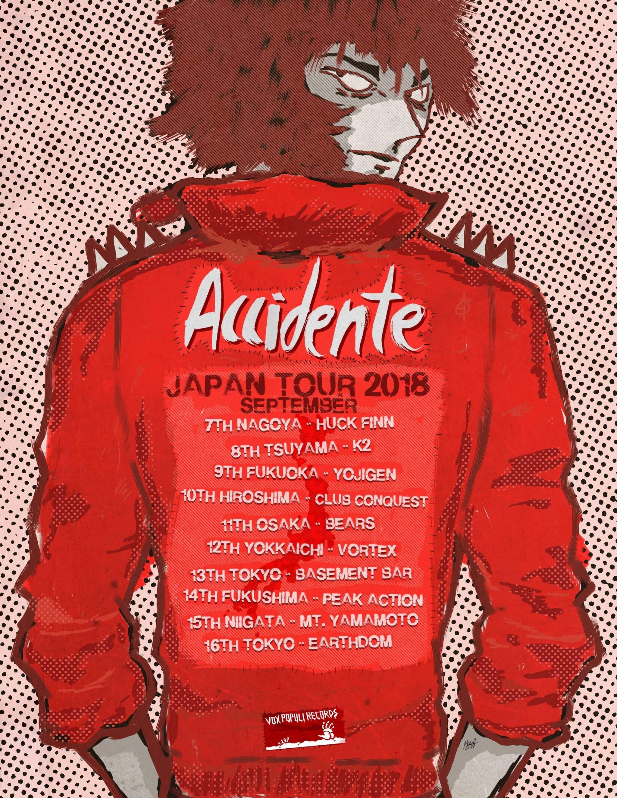 「ACCIDENTE JAPAN TOUR」の画像検索結果