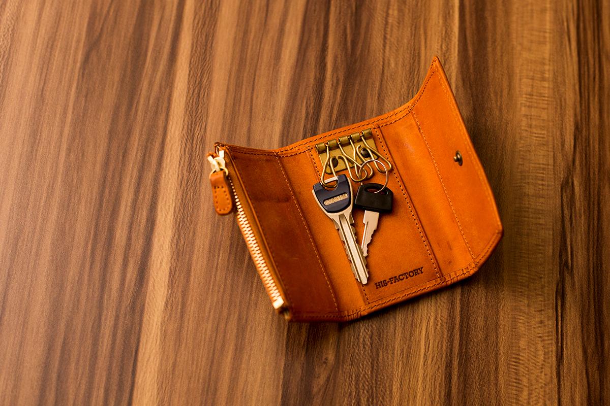 """自分色に育つ革。機能的キーケース&財布 """"Quattro"""""""