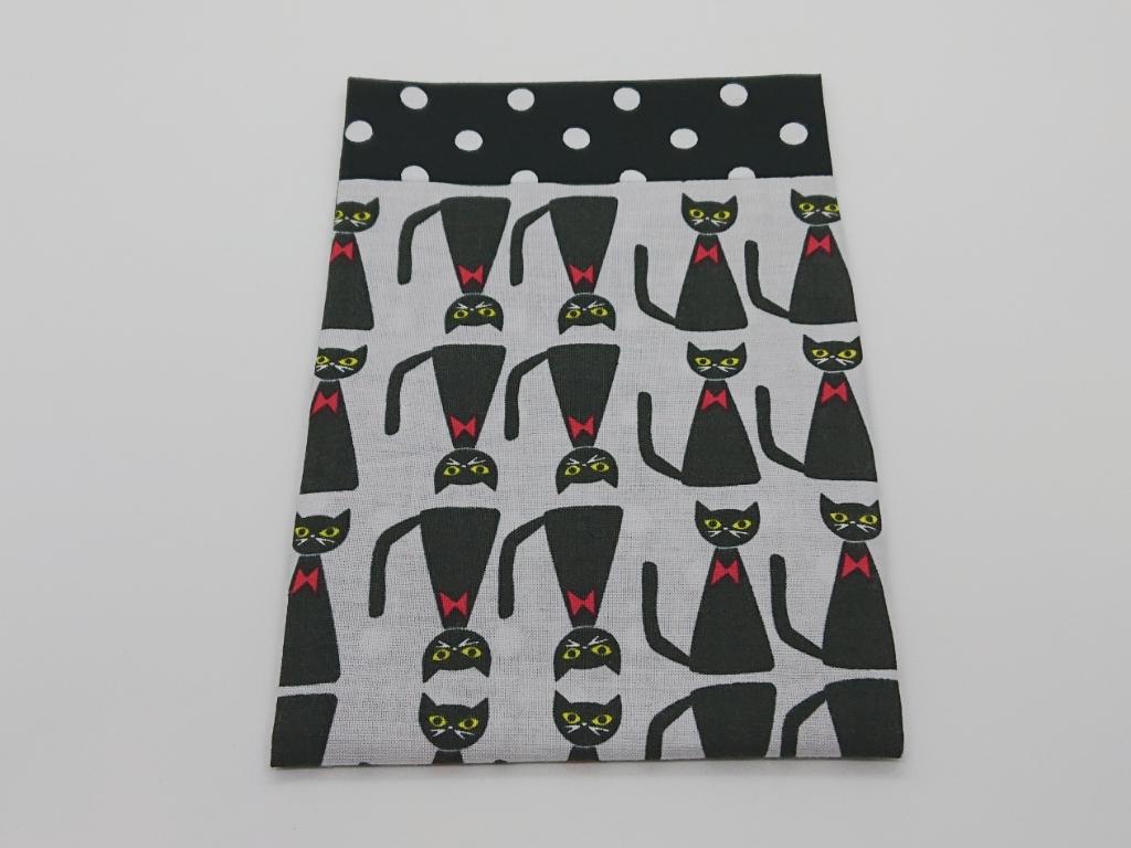 ふた付きポケットティッシュケース♪黒ネコ