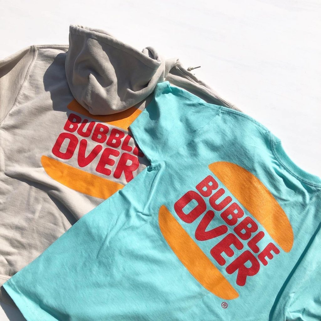 "BUBBLE OVER ""Bub's Burger"" Hoodie&Tee Just Arrived"