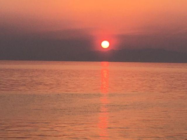 雲仙・橘湾のサンセット