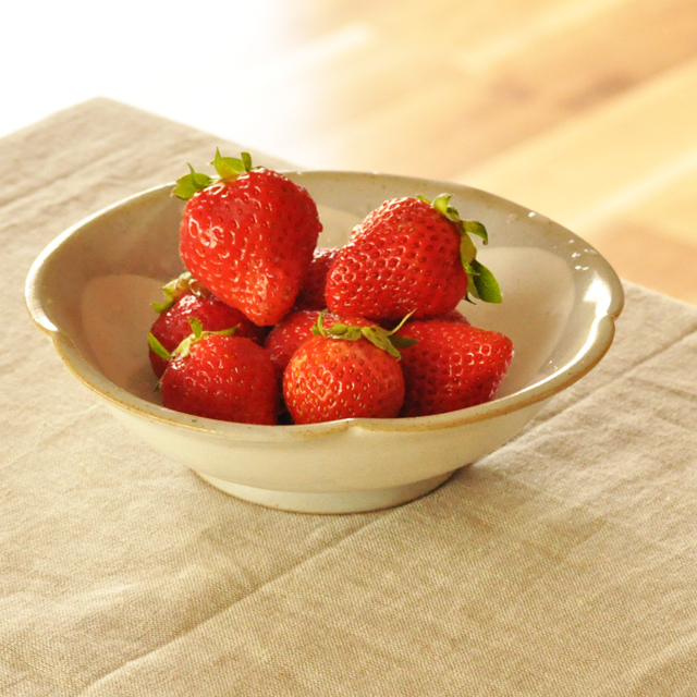 サラダやフルーツなどを盛りつけて。 普段の暮らしの中で、コーディネートしやすい和食器