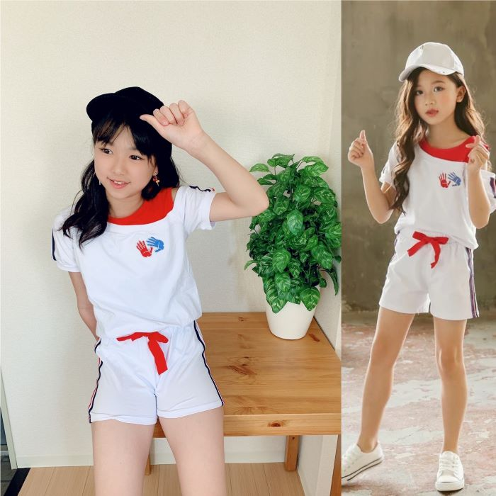 【10%OFFクーポン配布中】子供服 セットアップ オシャレ女子 スポーティーコーデ♡