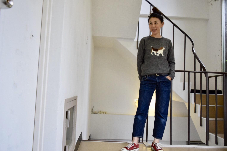 親子コーデが楽しめるアルパカ100%の上質のアニマル柄セーター!!