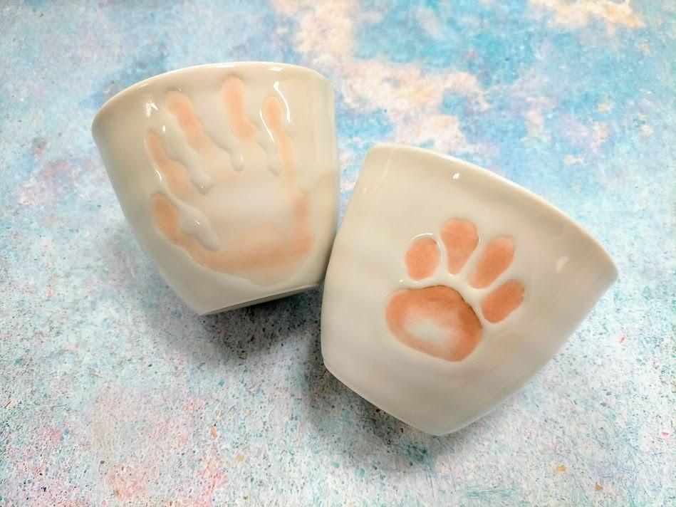 """愛犬&愛猫の""""肉球""""がそのまま食器に‼ お客様の声から生まれた肉球カップ"""