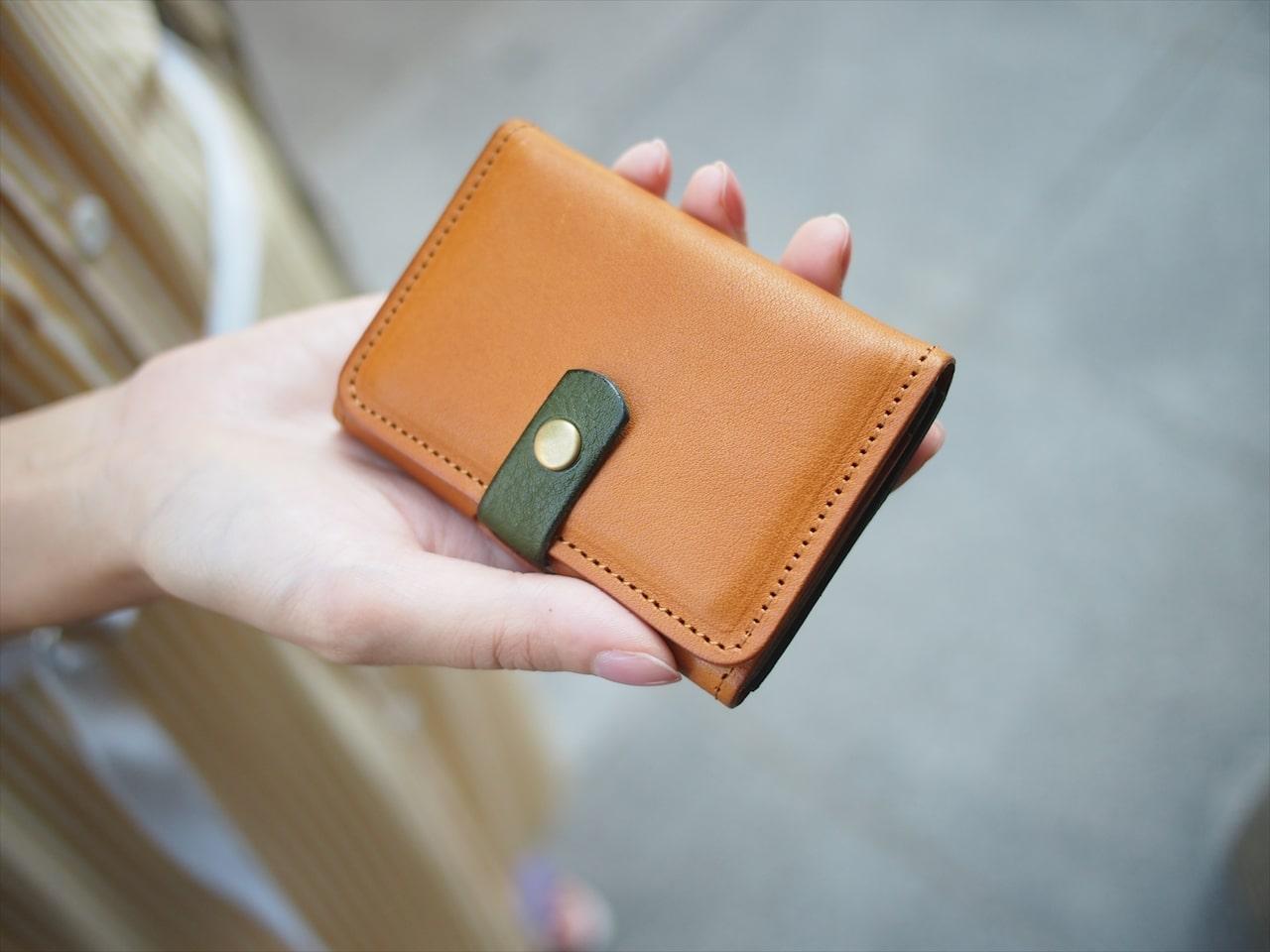 キャッシュレス時代のお財布!名刺入れサイズの小さな財布 ミニ財布