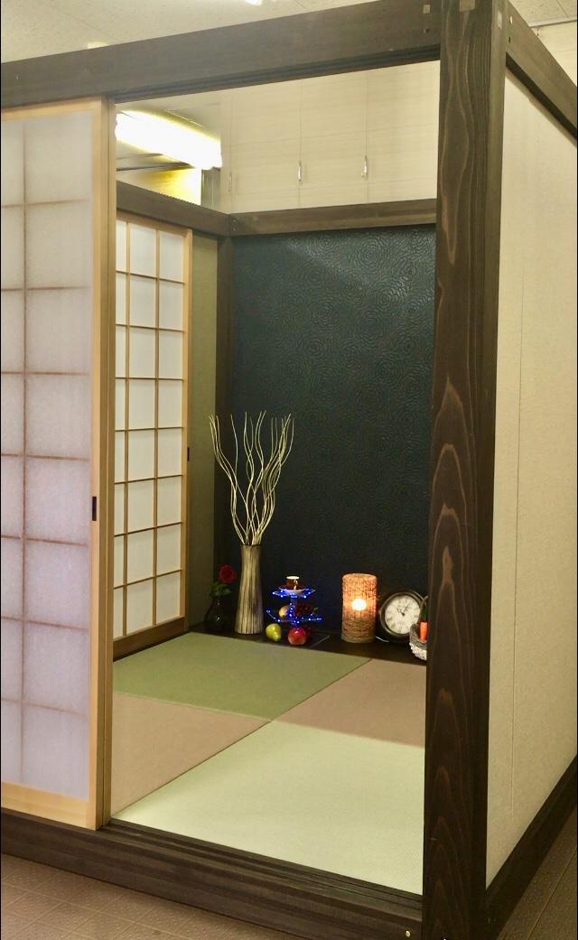 モダンでオシャレな2畳の和室。組立1時間!マンションに!テレワークに!畳もピンク、グリーンで北欧!