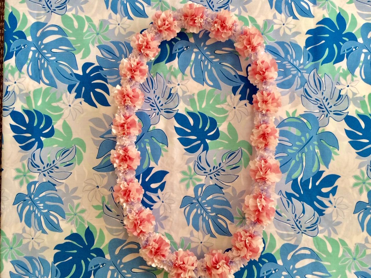 桜の時期ですね♪桜の『レイ』でお部屋にも春を呼びませんか?【ダブルチェリーブロッサム キット】