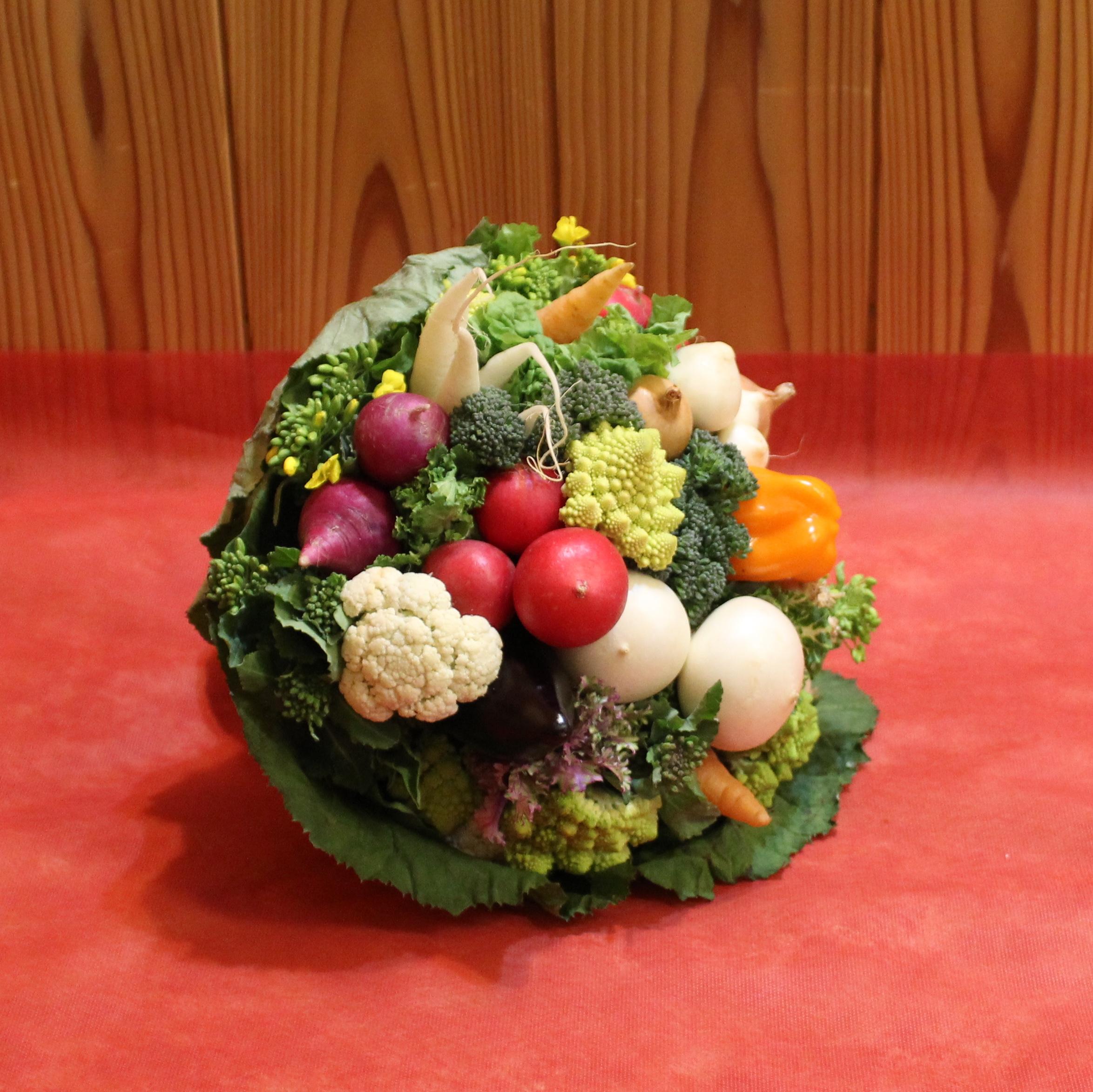 母の日はいつもと違う楽しくて可愛くて美味しいプレゼント、新鮮な野菜の『食いしん坊のブーケ』を