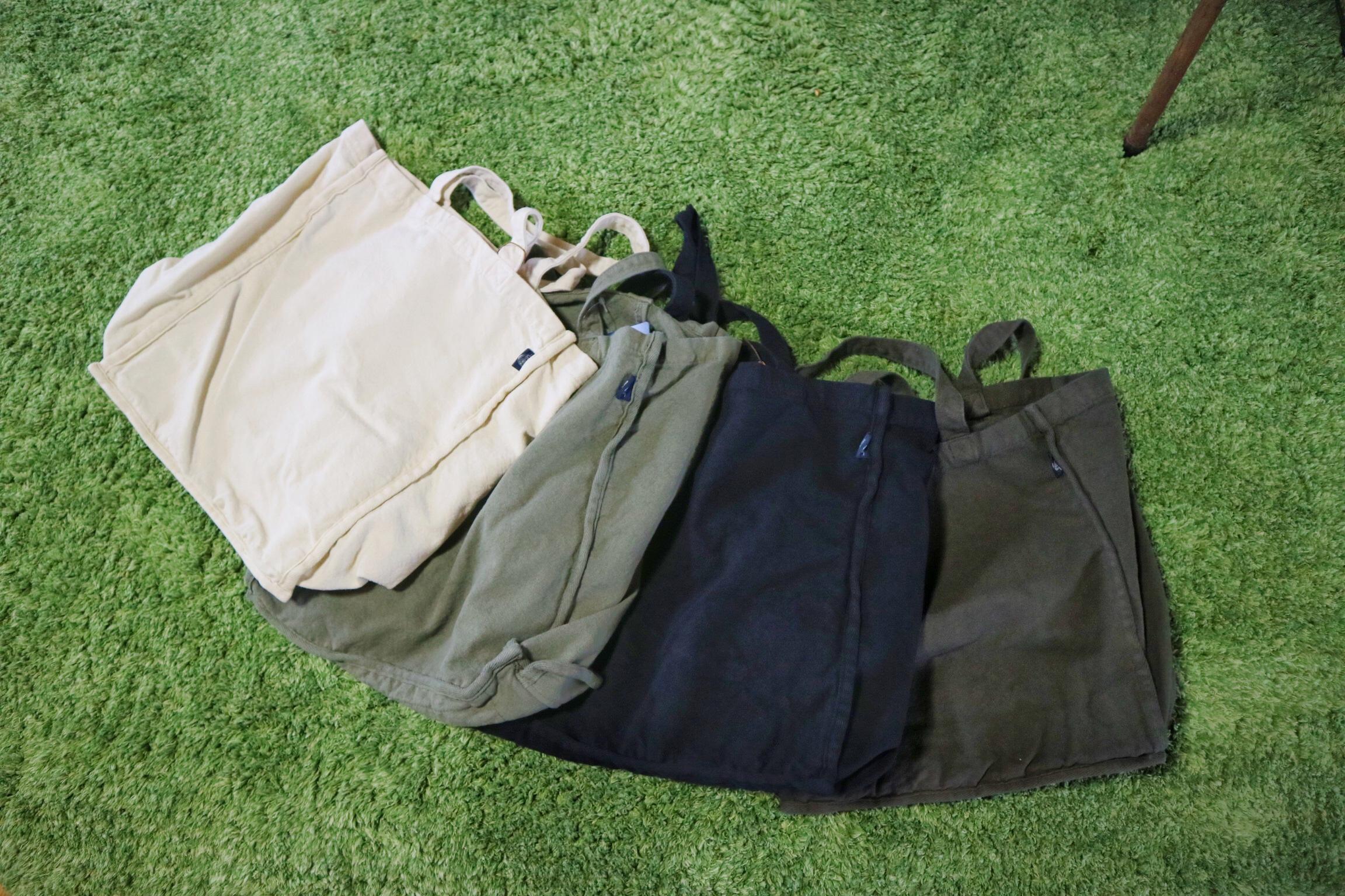 人気商品「帆布エコバッグ」ベーシックラインに、新色ネイビーが仲間入り!