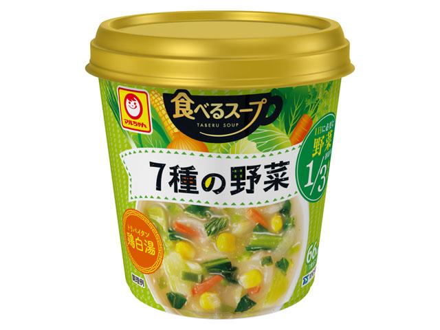 マルちゃん 食べるスープ 7種の野菜 鶏白湯 18g x6 * セール中!