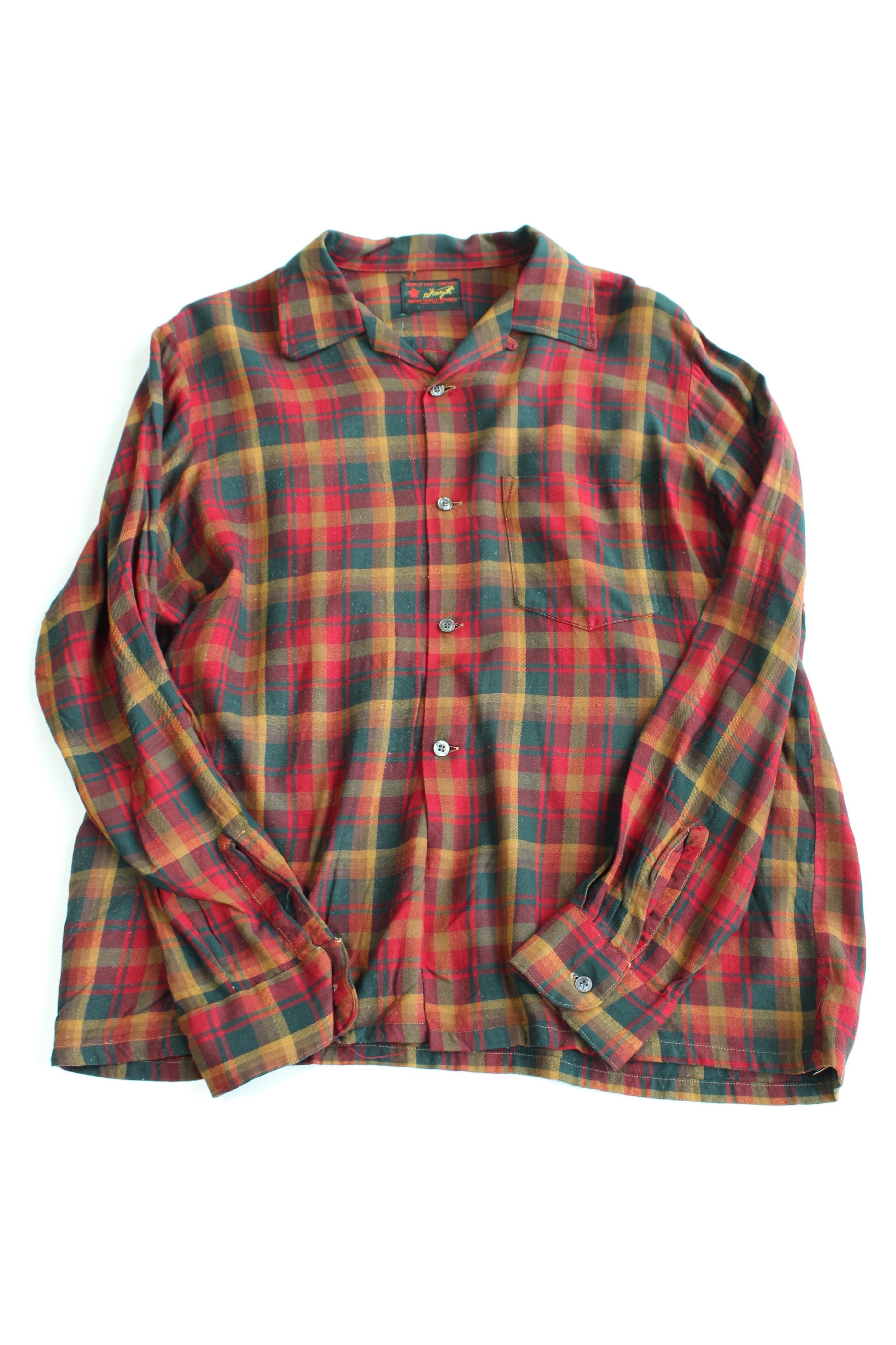秋物シャツ特集!第三弾は、ブロックチェック風のレーヨンチェックシャツです。