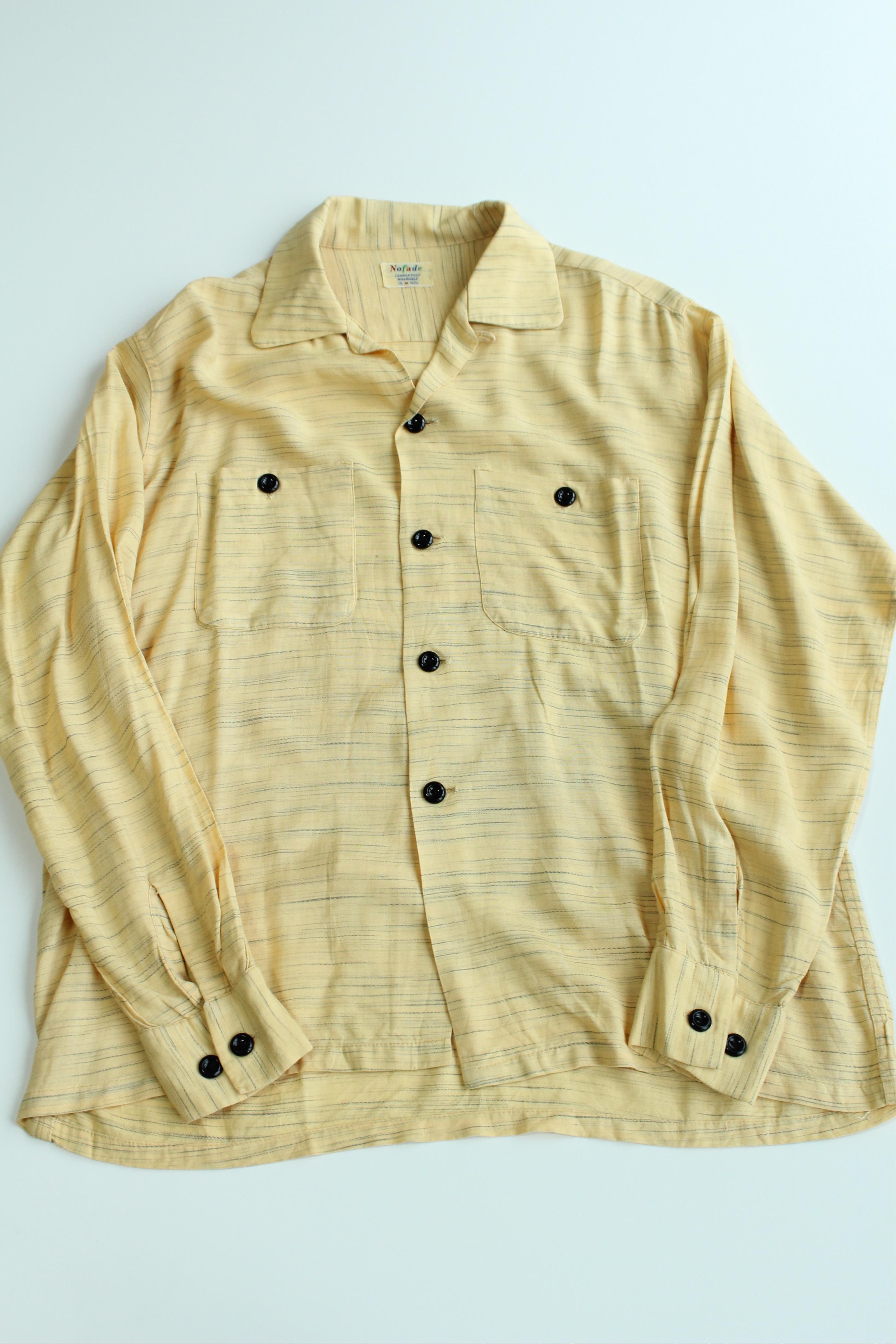 秋物シャツ特集!第ニ弾は、カスリ柄ヴィンテージシャツです。