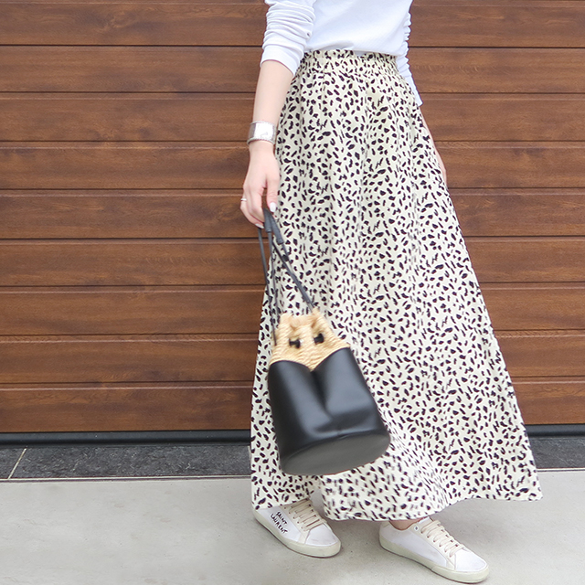 人気アイテム・レオパード柄への挑戦は、このスカートから♪