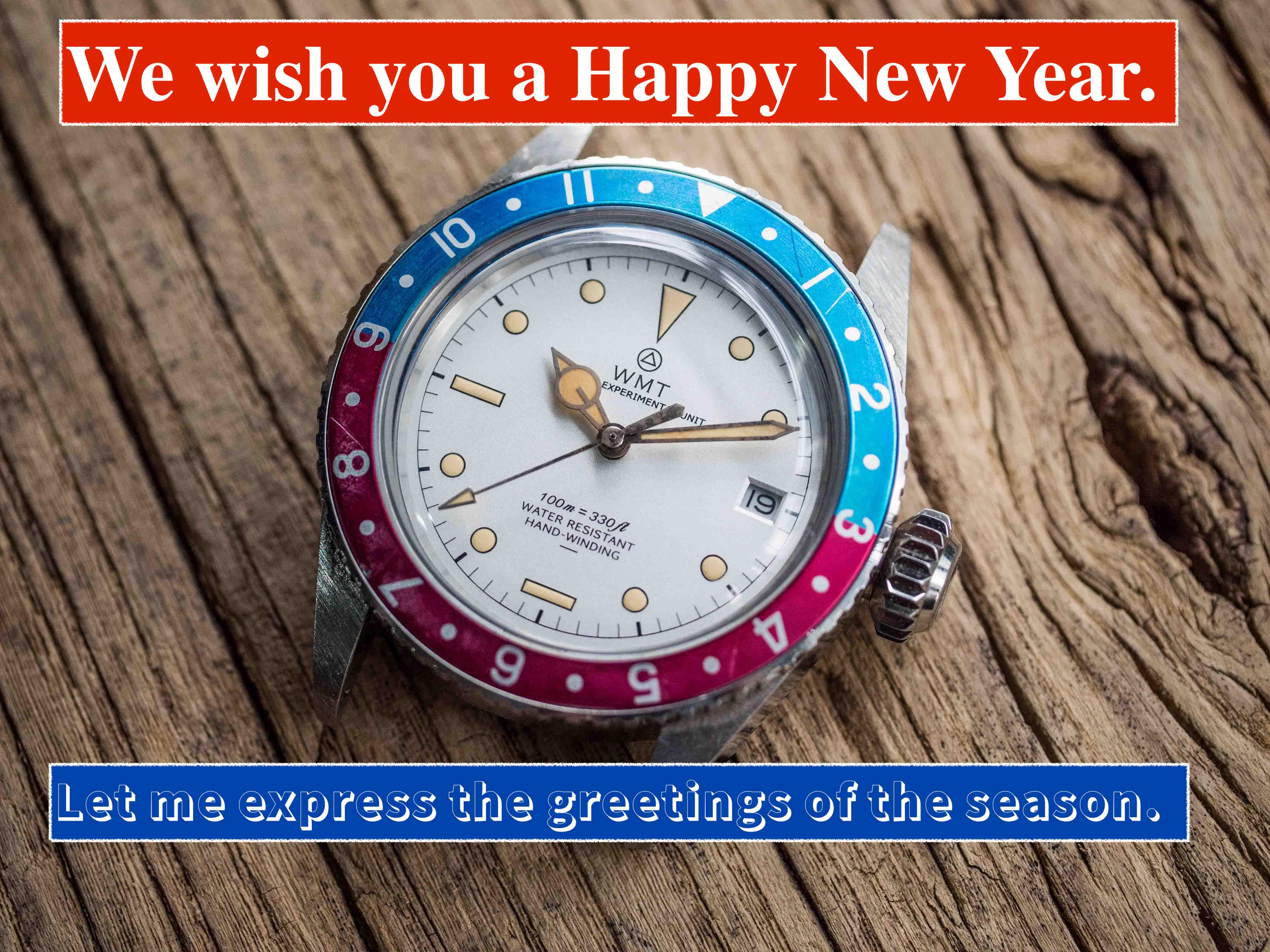新年を祝うに相応しい、WMTのホワイトダイアルが満を辞して登場!
