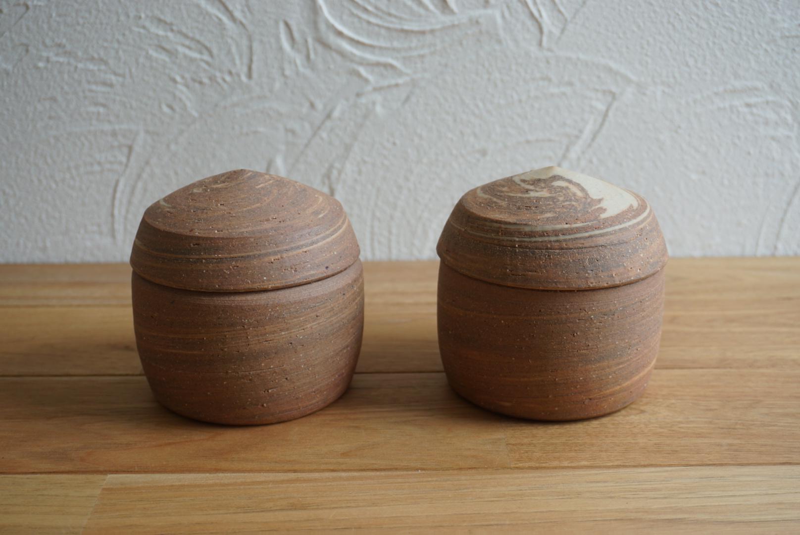 まゆみ窯 練りこみ 塩壺