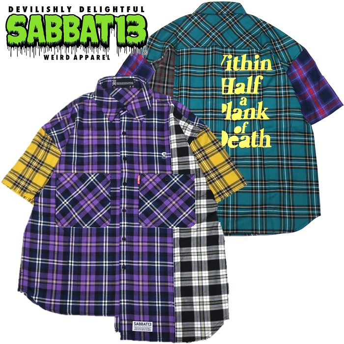 「SABBAT13 / サバトサーティーン」新作チェックシャツ入荷!!