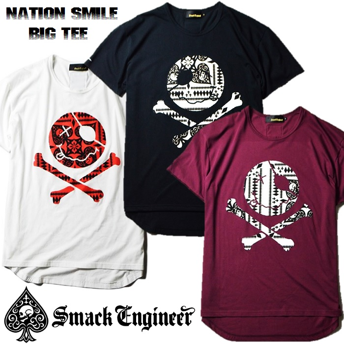 SMACK ENGINEER(スマックエンジニア)「NATION SMILE BIG TEE」入荷★