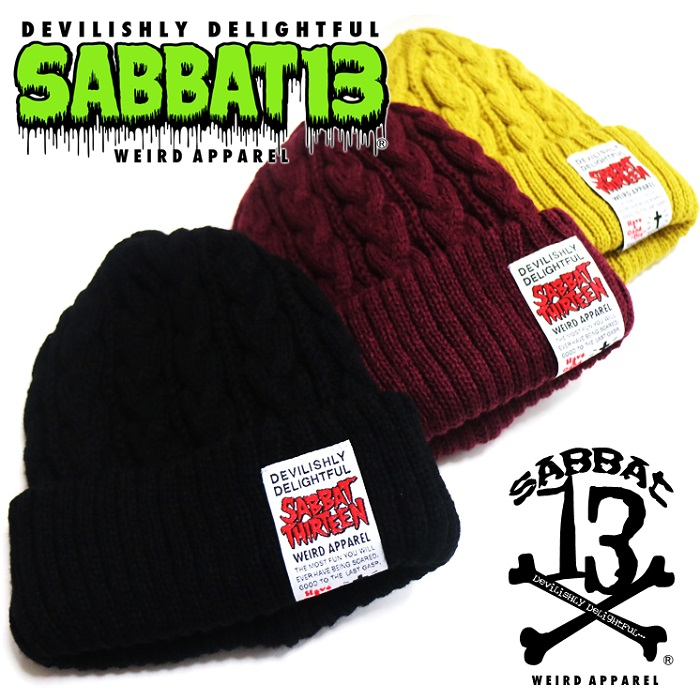 「SABBAT13 / サバトサーティーン」新作「SCARE KNIT CAP」入荷!!