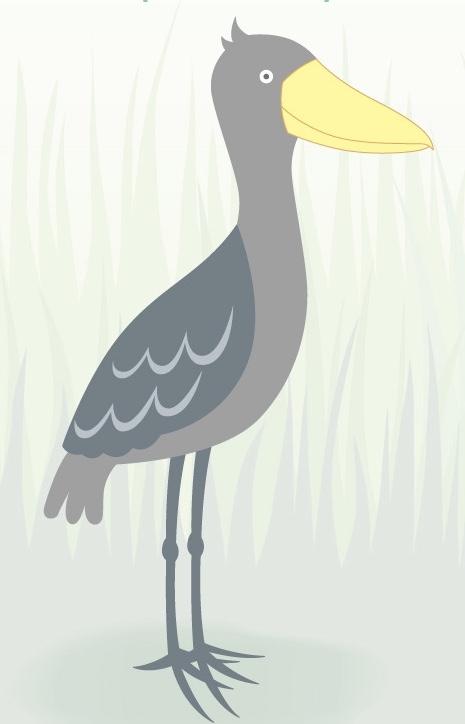 みんな大好き「動かない鳥」ハシビロコウの一筆箋