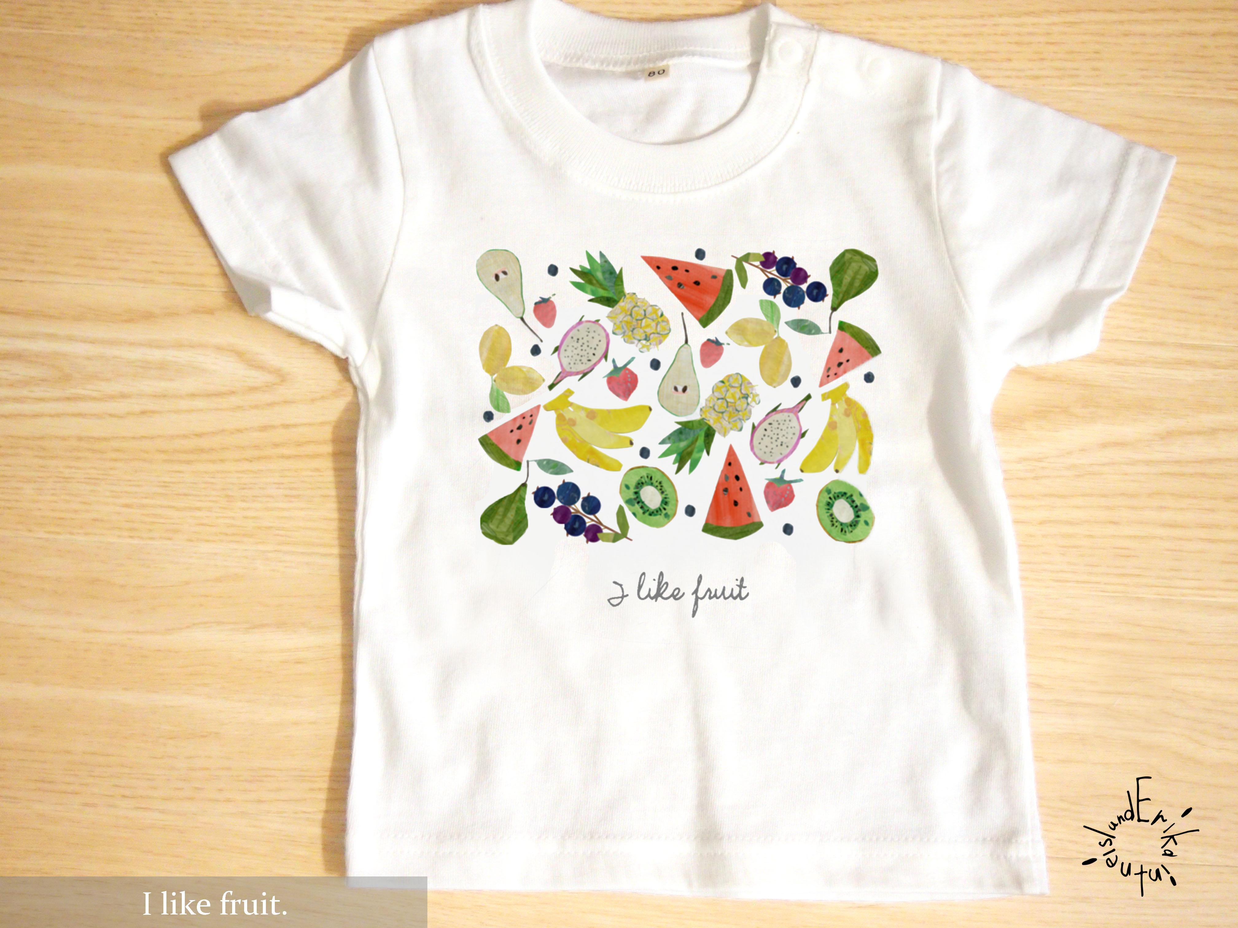 フルーツをいっぱい詰め込んだ、フルーツTシャツ&ブランケット