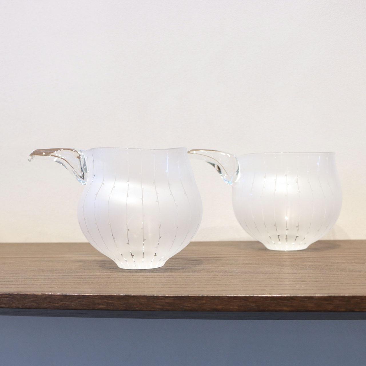 【 冷酒?or 冷茶? 】冷たい飲み物を注ぎたいガラス片口