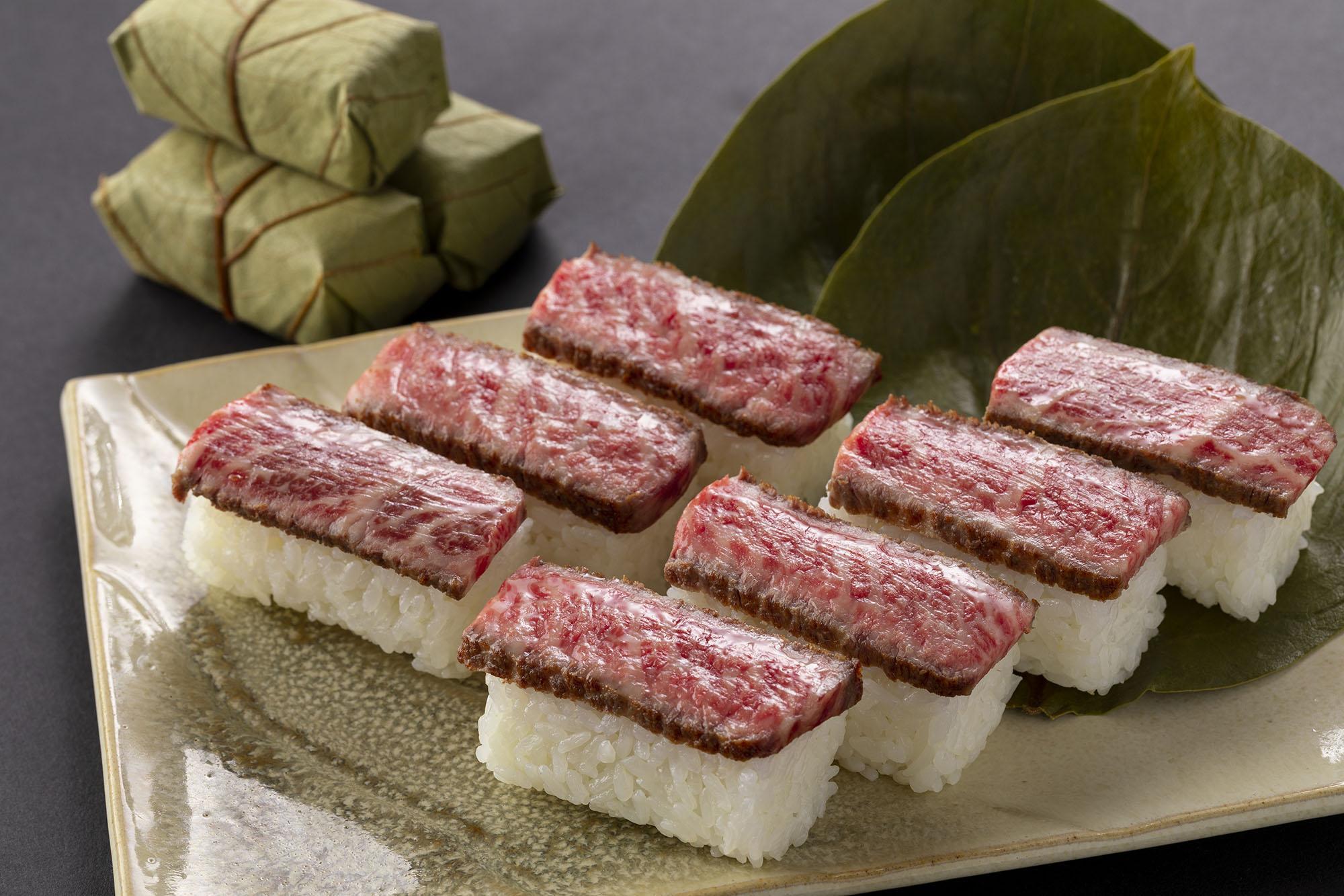 黒毛和牛イチボを使った「特選」柿の葉肉寿司が買えるチャンス!