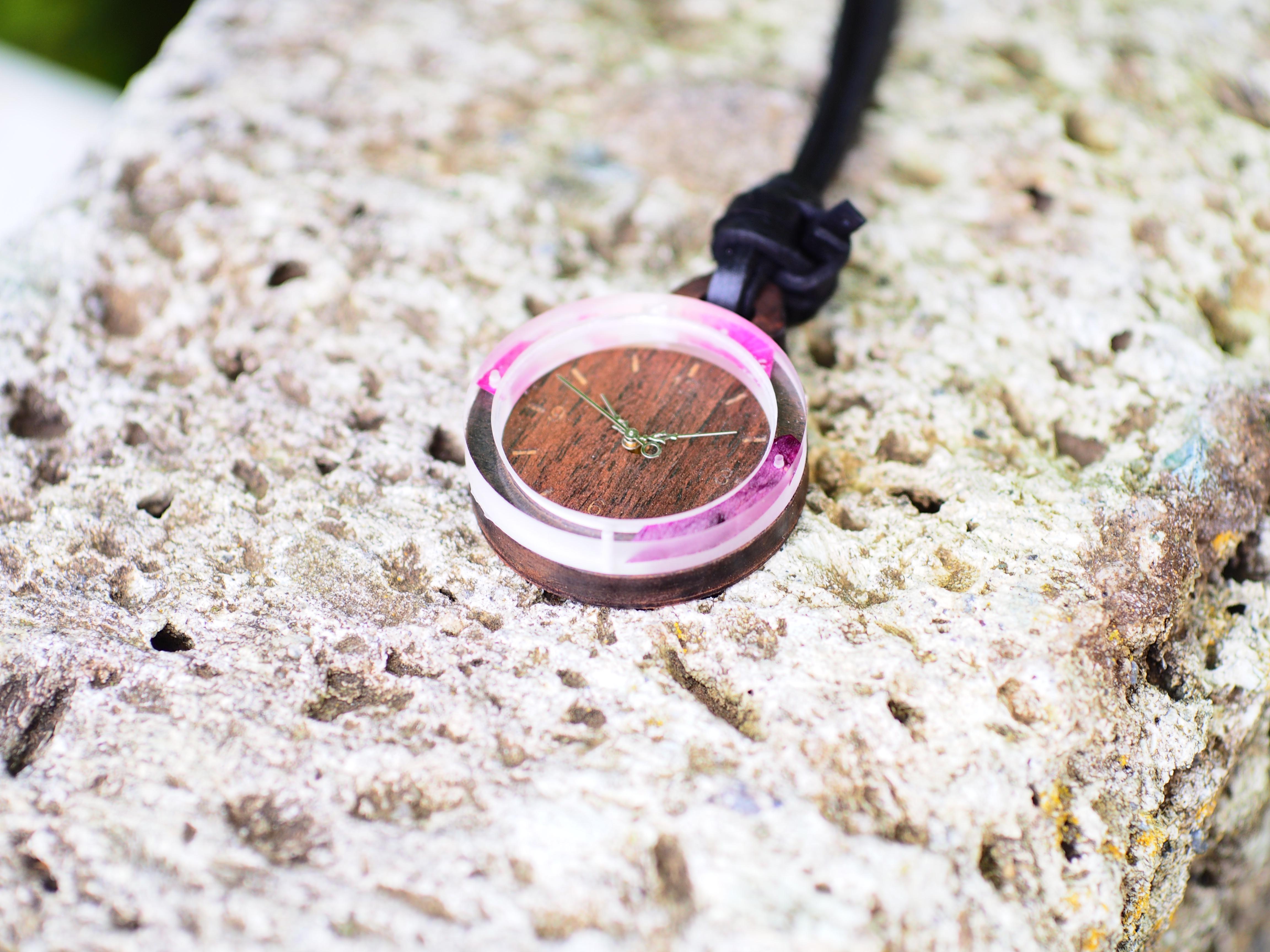 【新作】押し花懐中時計を作ってみました!!