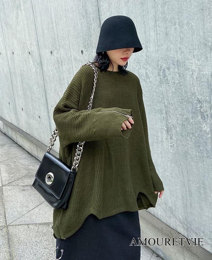 ビッグサイズかつスタイリッシュなセーターが無二の個性を発揮☆冬必着の一枚♪