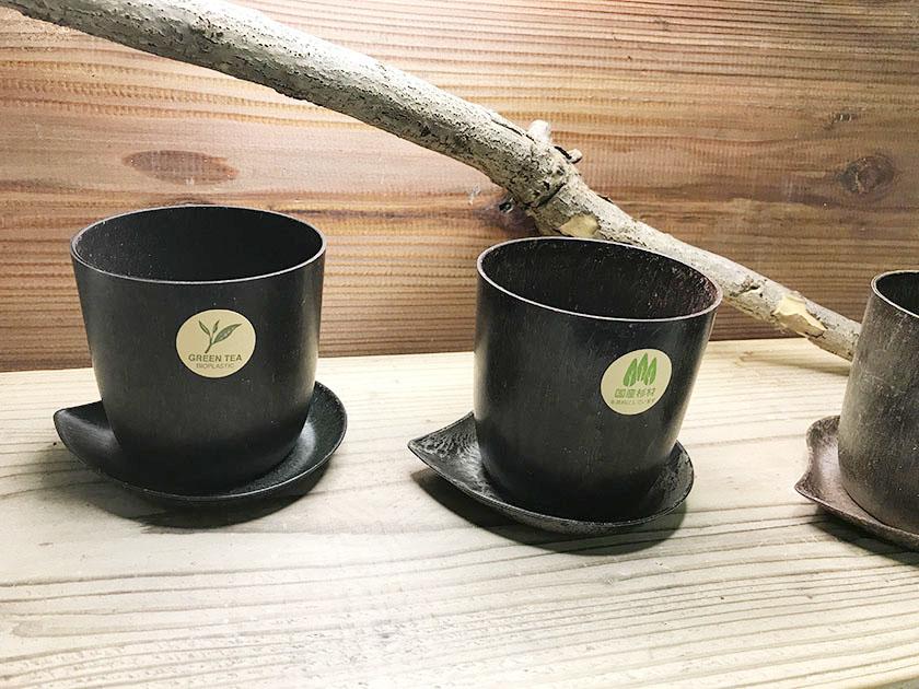 素材の香りで癒される エコロジー 植木鉢