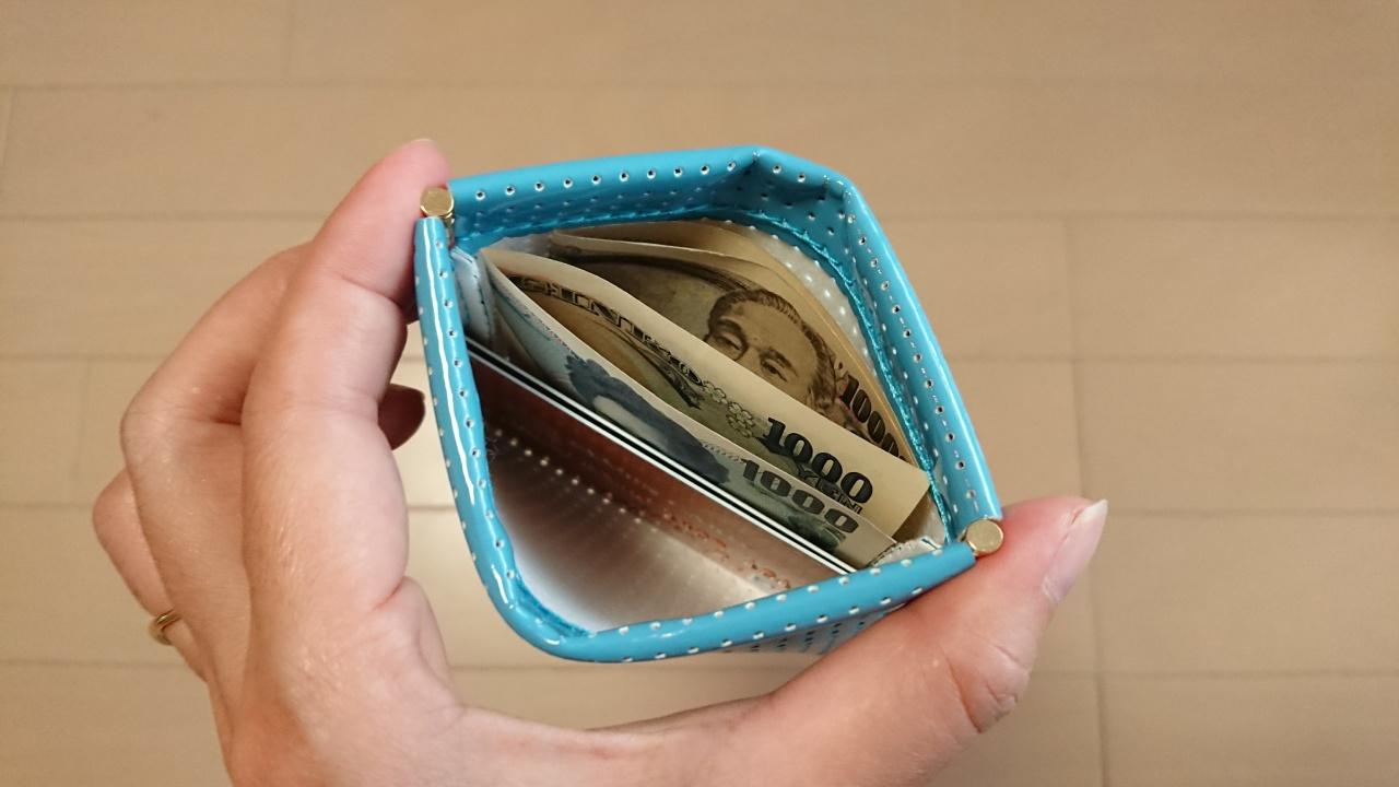 ポケットにスルっと入るポーチは、お財布としても大活躍!片手で開閉できて便利♪
