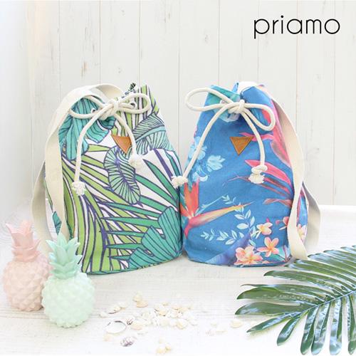 ビーチを感じるインポートアイテム♥夏のお出かけはトロピカル柄の巾着バッグで!