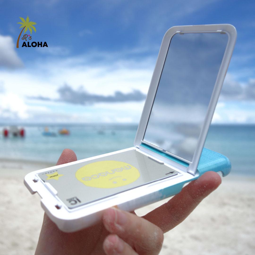 多機能なiPhoneケースが便利♡ ICカード収納&ミラー付き!