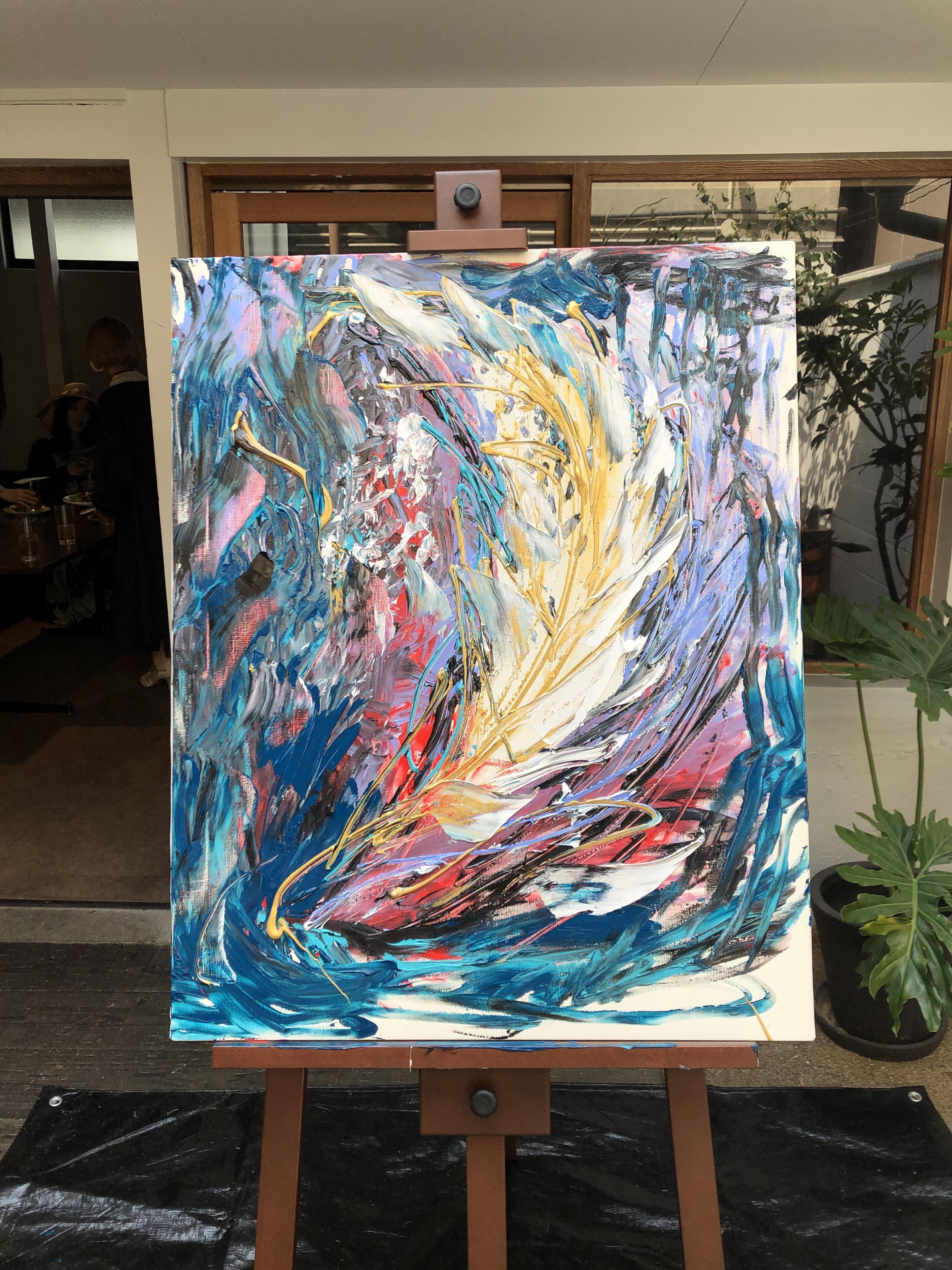 カフェやセレクトショップに似合うおしゃれカッコイイ羽の絵画を特別価格で販売中