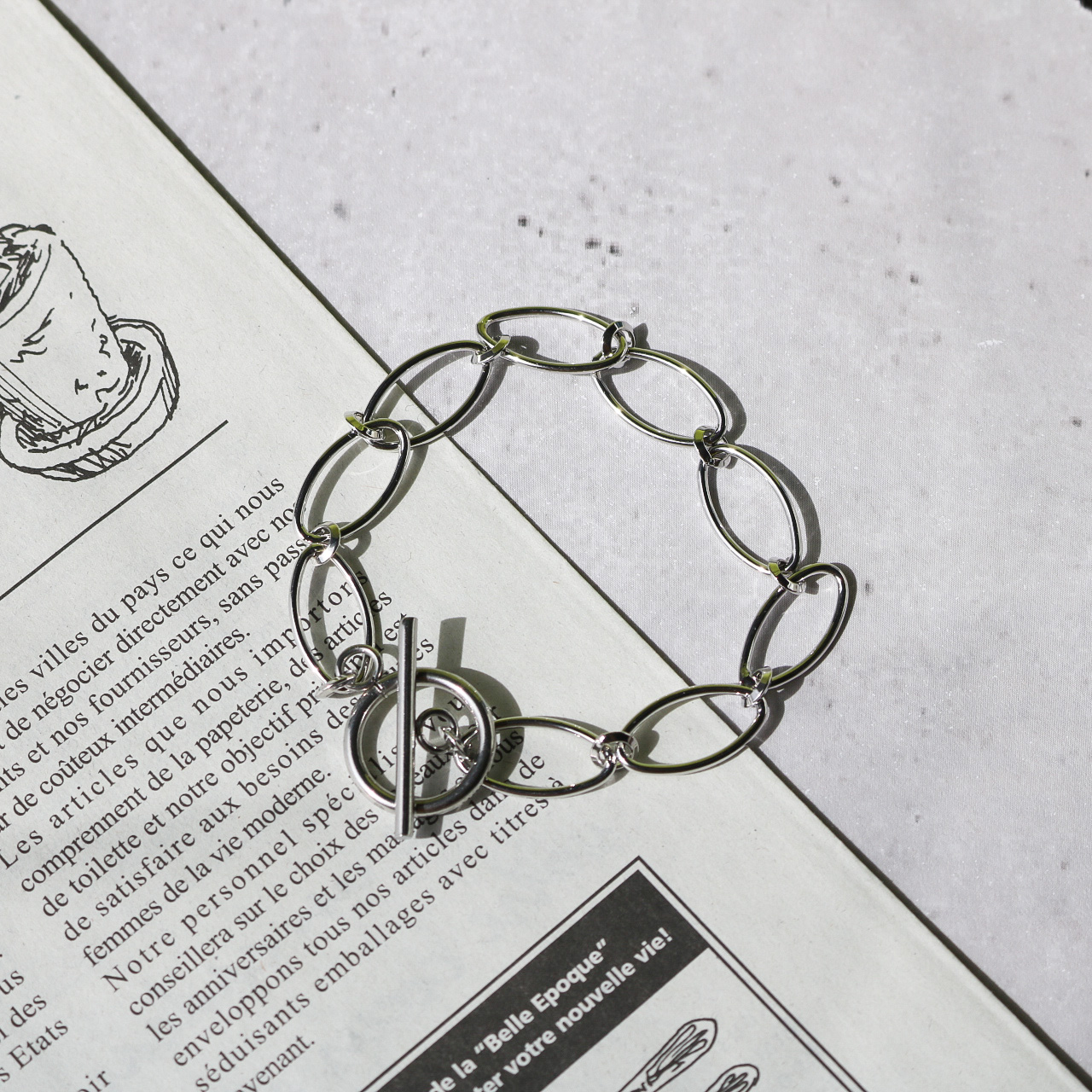 Oval Chain Blacelet