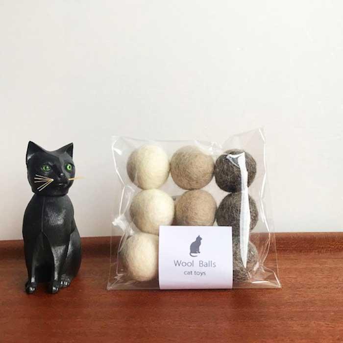 ★リピート率NO1★おしゃれなカラーの猫のおもちゃのフェルトボール!
