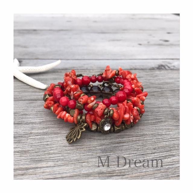 M Dream 人気のコーラル Lサイズのバラのアイテムが可愛い。