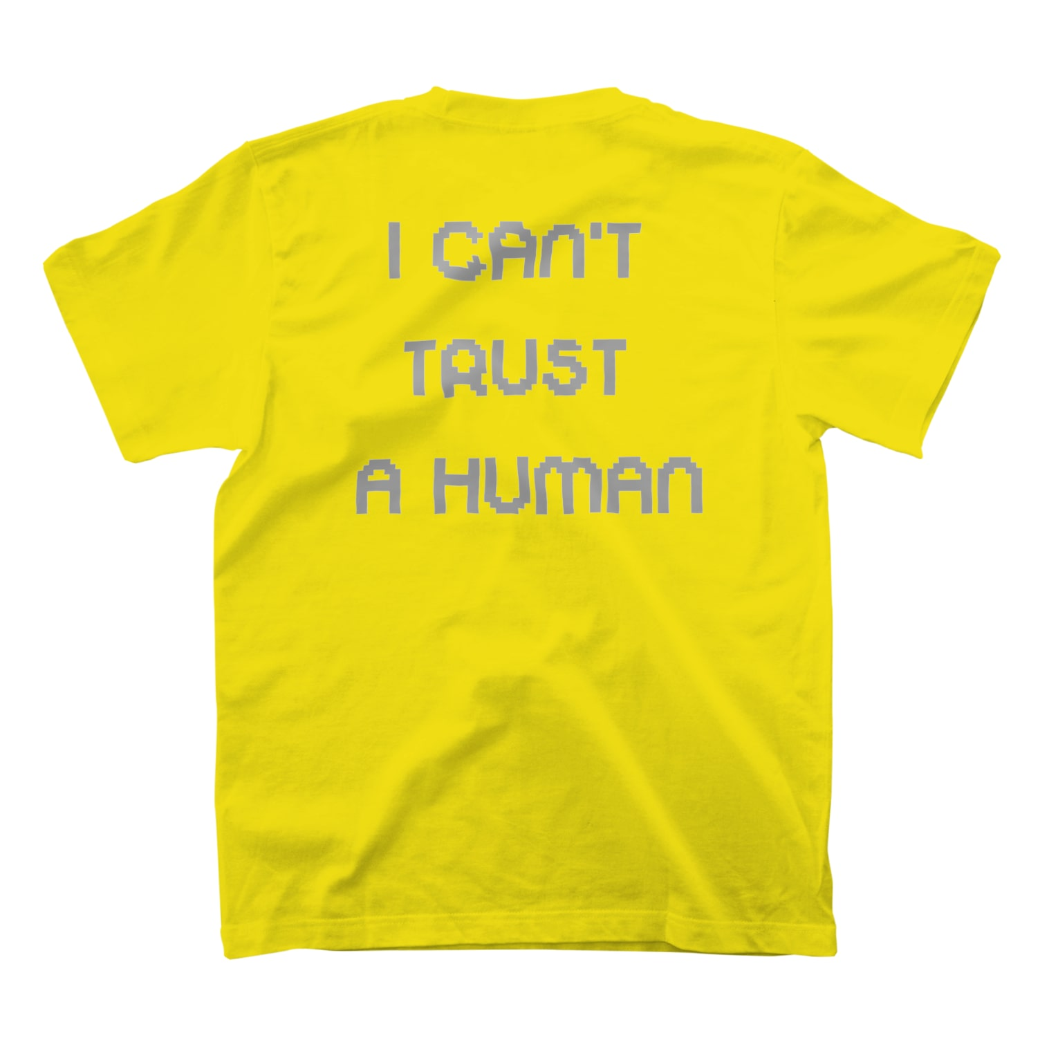 Grass Poet「I CAN'T TRUST A HUMAN」TEE YELLOW