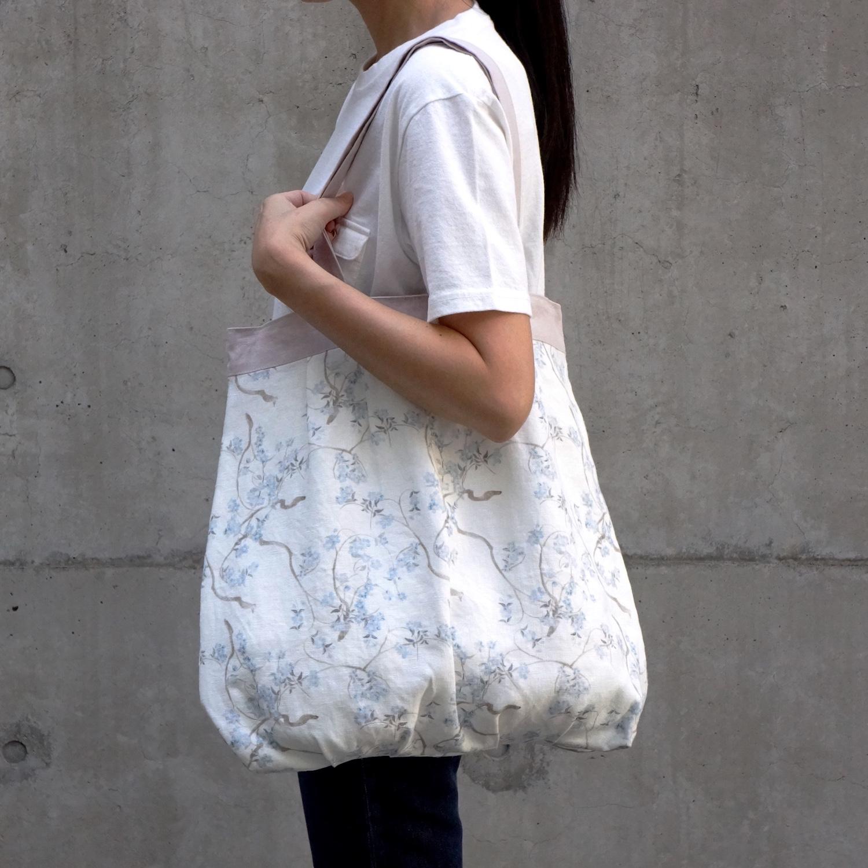 優しい風合のリトアニアリネンのバッグ