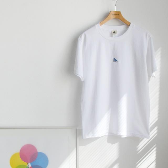【新商品のご紹介】青い鳥の刺繍が入った『オオルリTシャツ』できました!