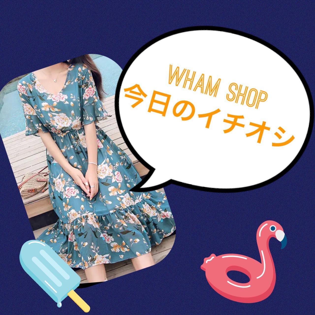 夏のデートにピッタリ☆甘辛MIX花柄ワンピース