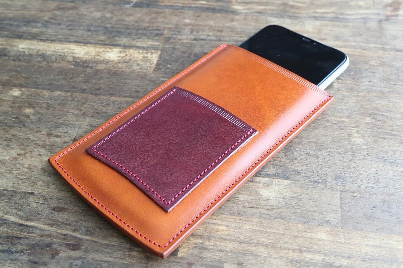 革製i phone11ケースをカラーオーダーで自分色に
