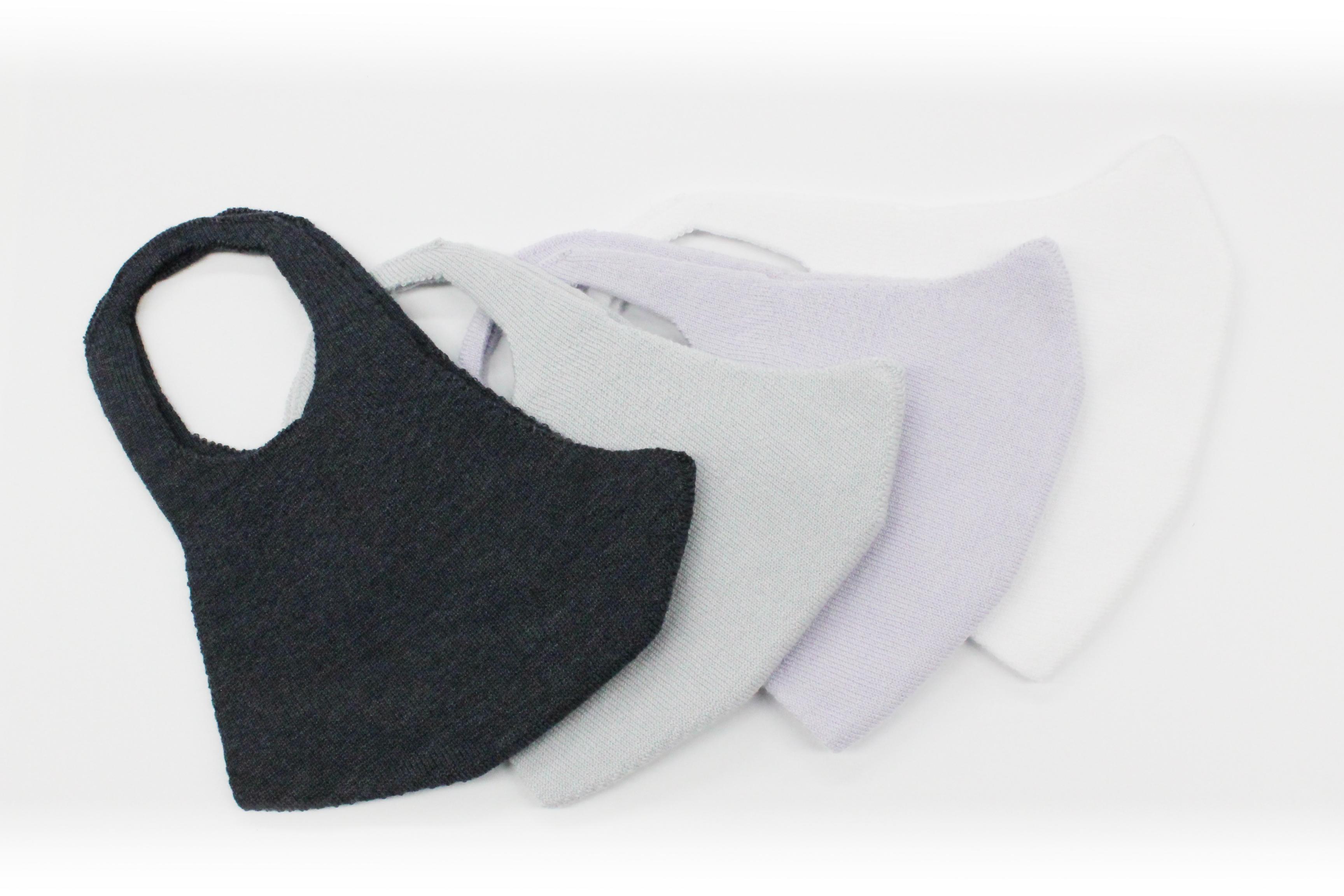 縫い目のない、洗える3Dニットマスク