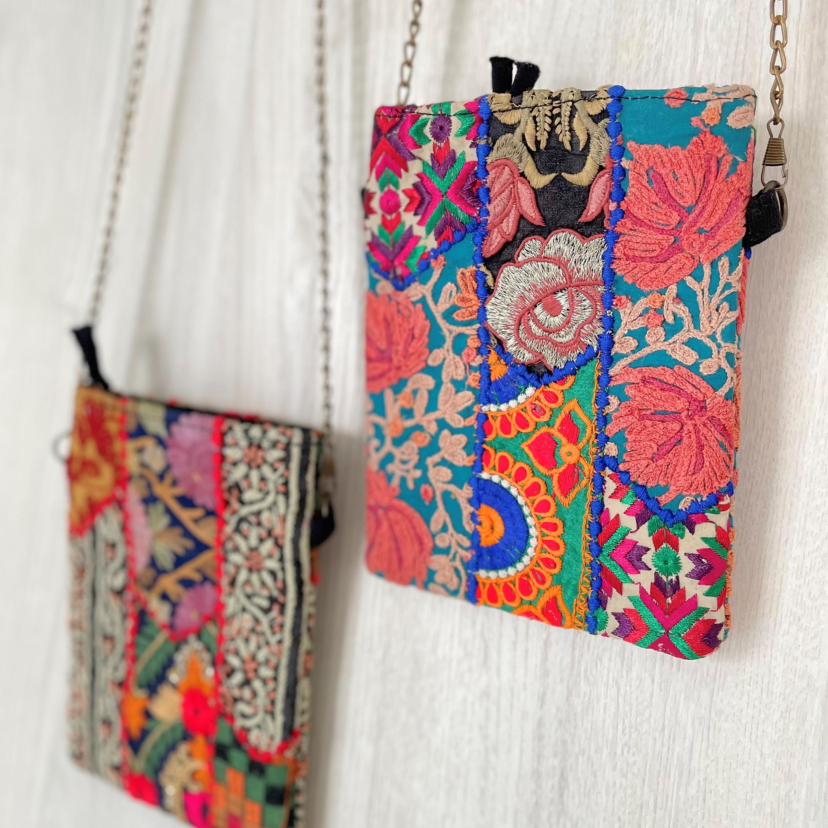 美しい刺繍に目を奪われる、ヴィンテージ刺繍バッグ
