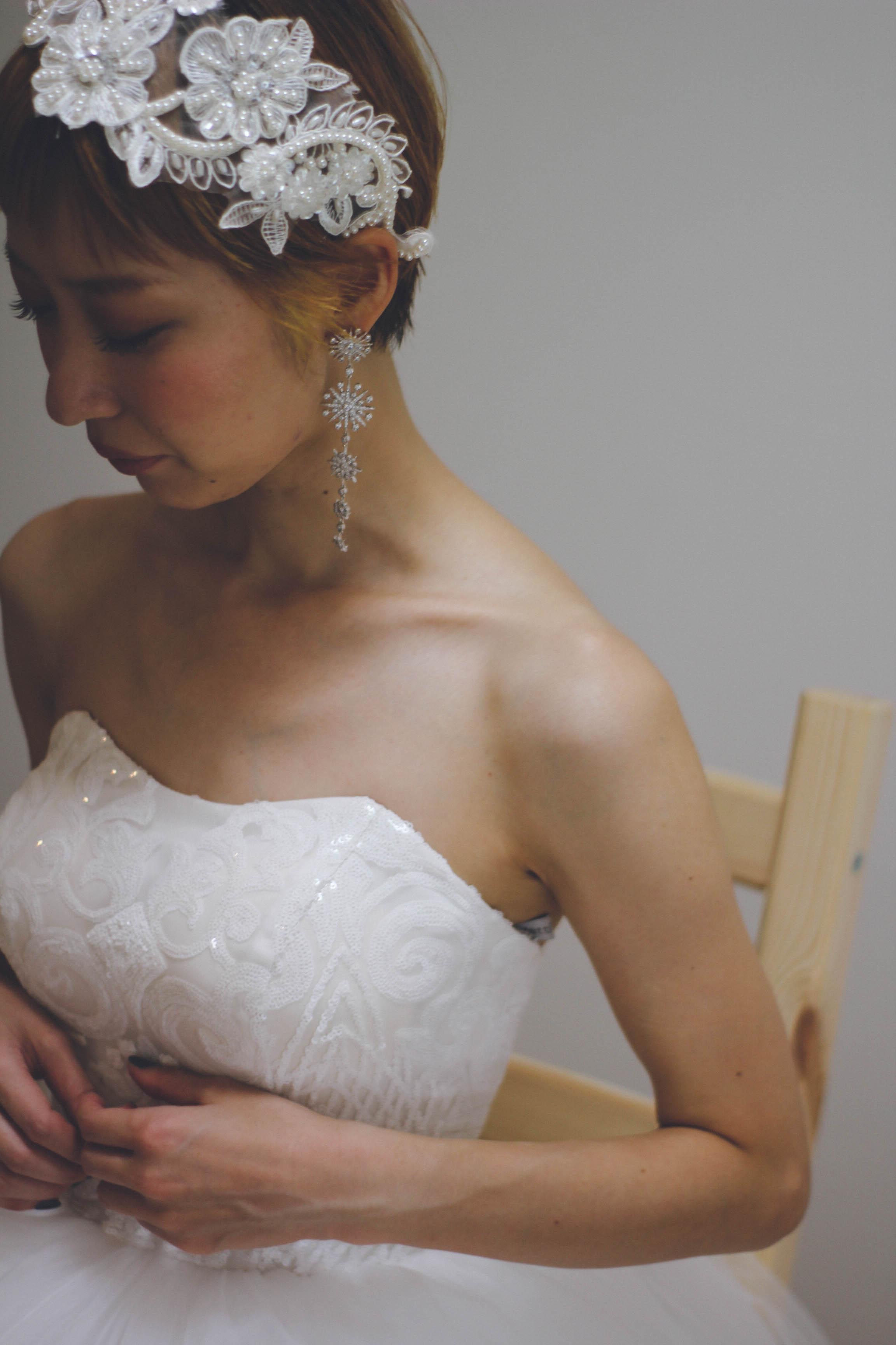 キラキラスパンコールのプリンセスドレス