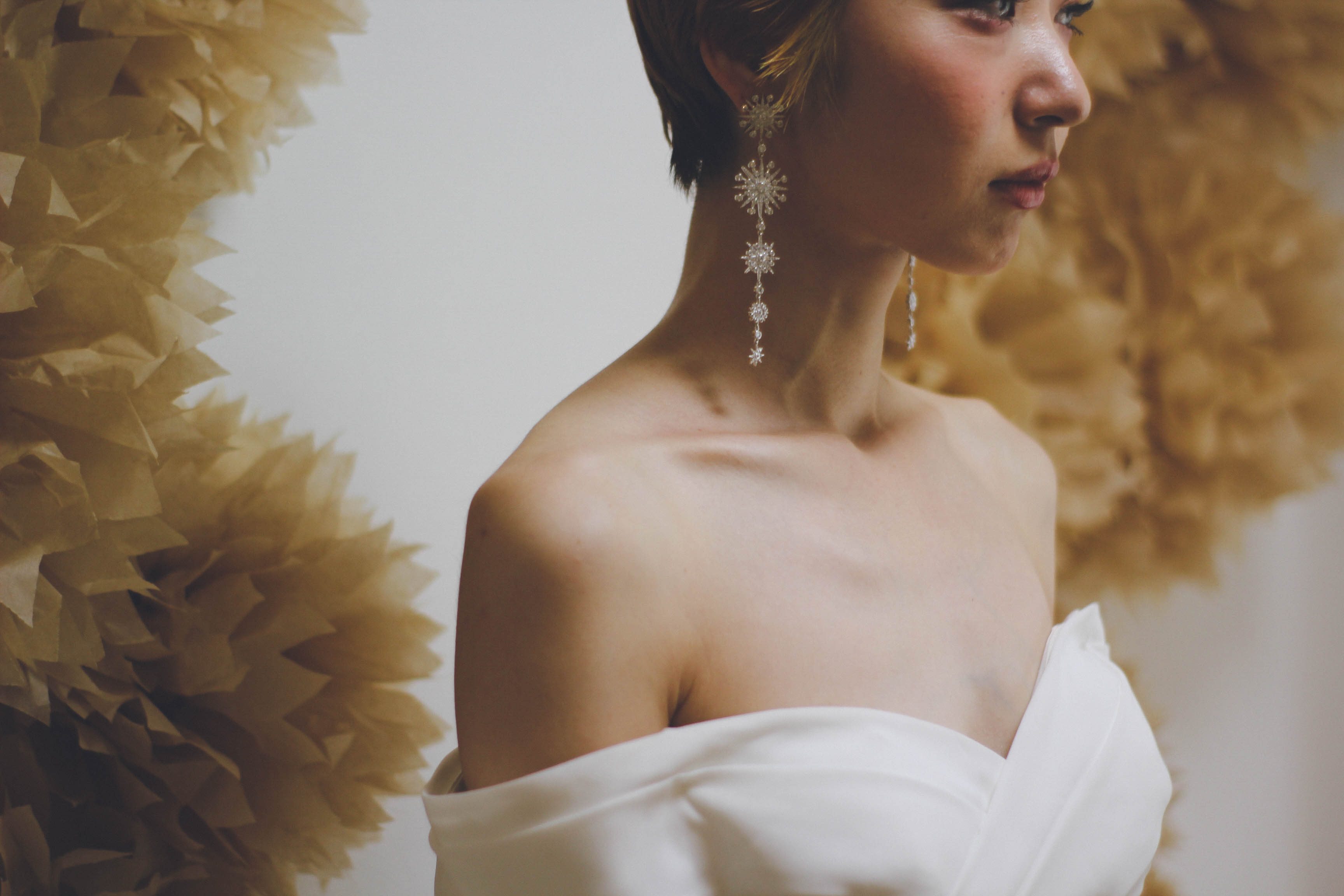 ウェディングドレス♡オフショルダーのソフトマーメイドドレスのご紹介