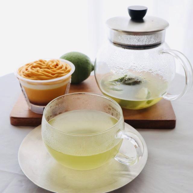 コンビニスイーツにも合う煎茶レモン