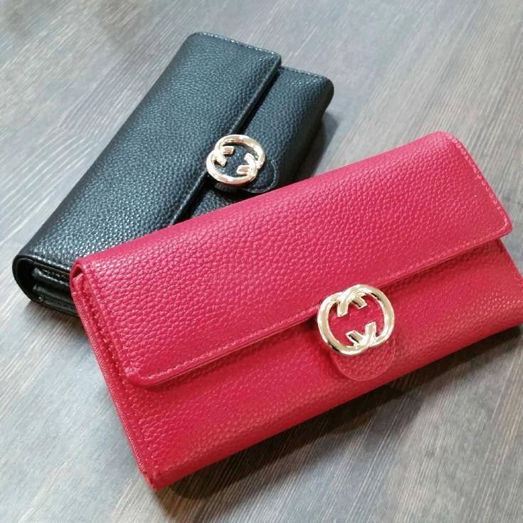 スマホも入る長財布♡赤・黒の2色展開★低価格で便利なデザインで収納力有り◎