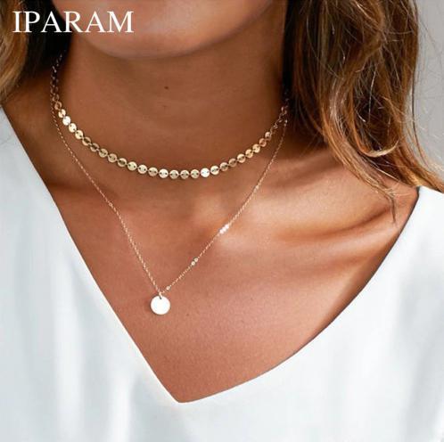 【イイ女度アップ♡】シンプル2層ネックレス 【シンプルな2層ネックレスで華奢見せ♪】