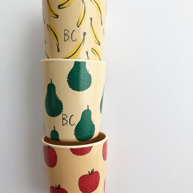 ナシ・リンゴ・バナナどれが好き?BOBO CHOSESのフルーツ柄カップ